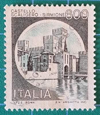 Castillo Scaligero Sirmione - Sello de Italia 1980
