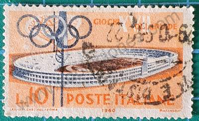 Estadio Olímpico Roma Sello Italia 1960