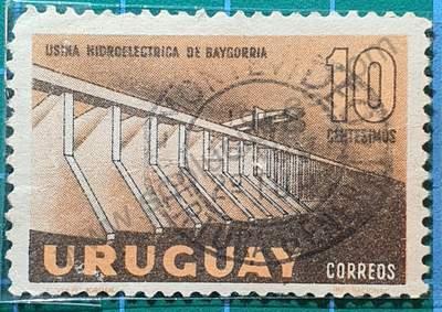 Represa Hidroeléctrica de Baygorria - Sello Uruguay 1958
