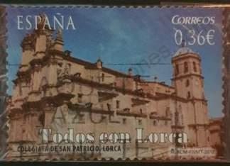 España 2012 Sello Colegiata San Patricio 0,36 €