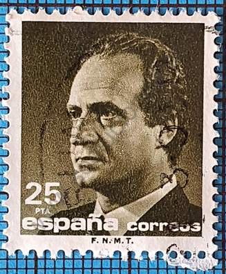 Rey Juan Carlos 25PTA - Sello España 1990