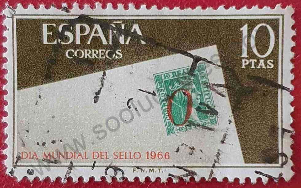 Día del Sello 10Ptas - España 1966