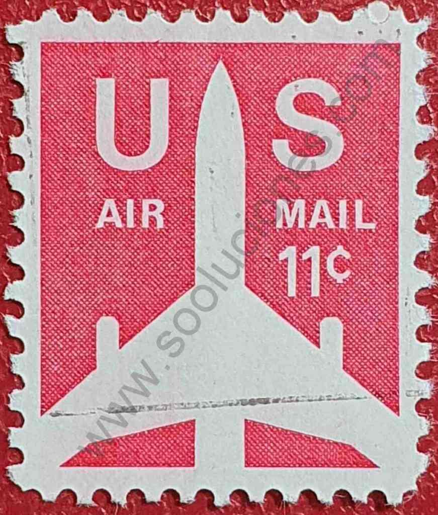 Silueta de avión 11c - Sello Estados Unidos 1971