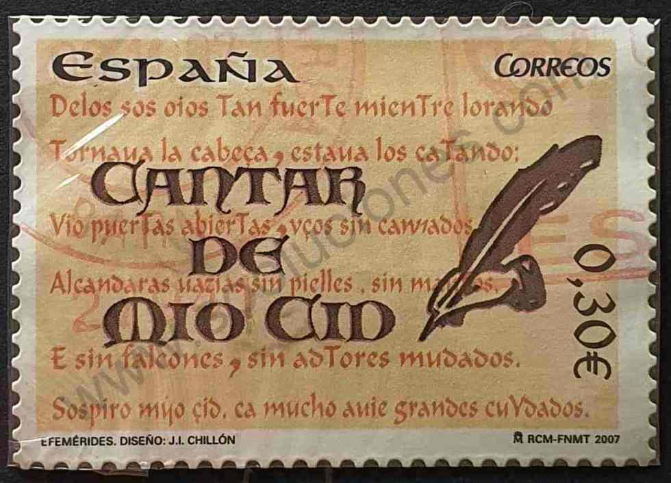 Sello Cantar del Mio Cid - España 2007