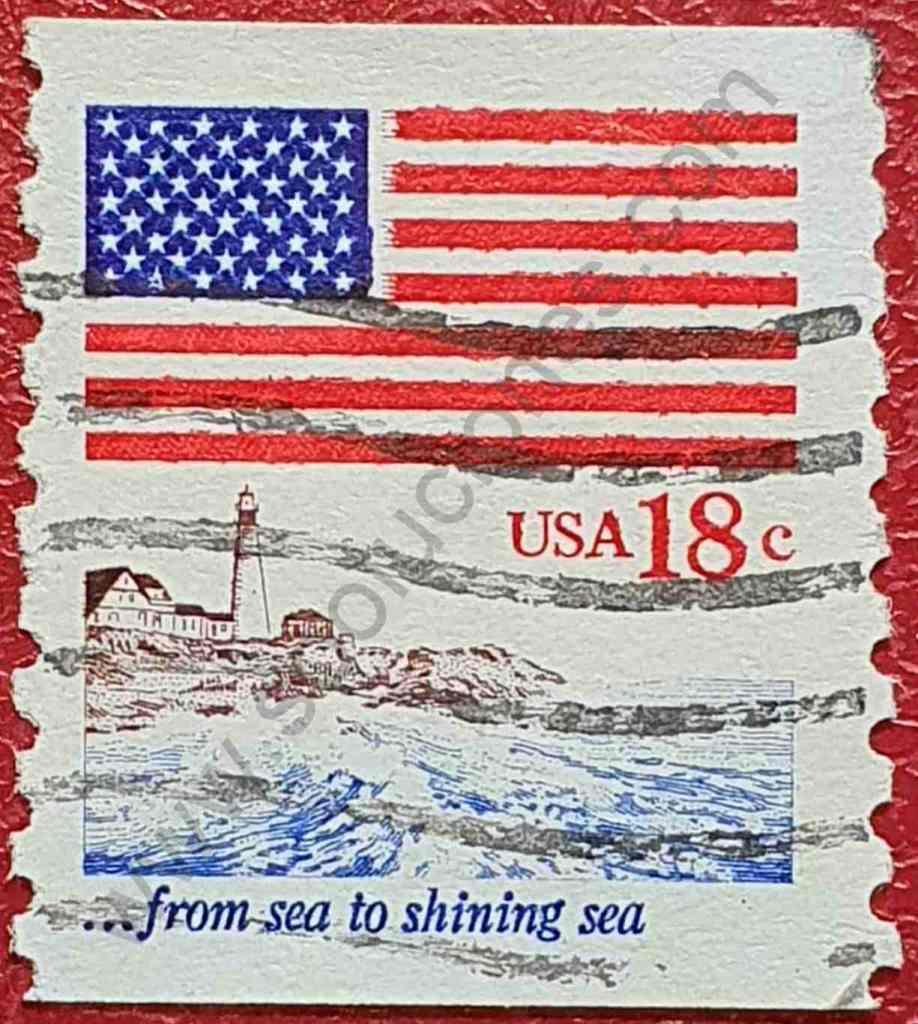 Faro y Bandera - Sello Estados Unidos 1981