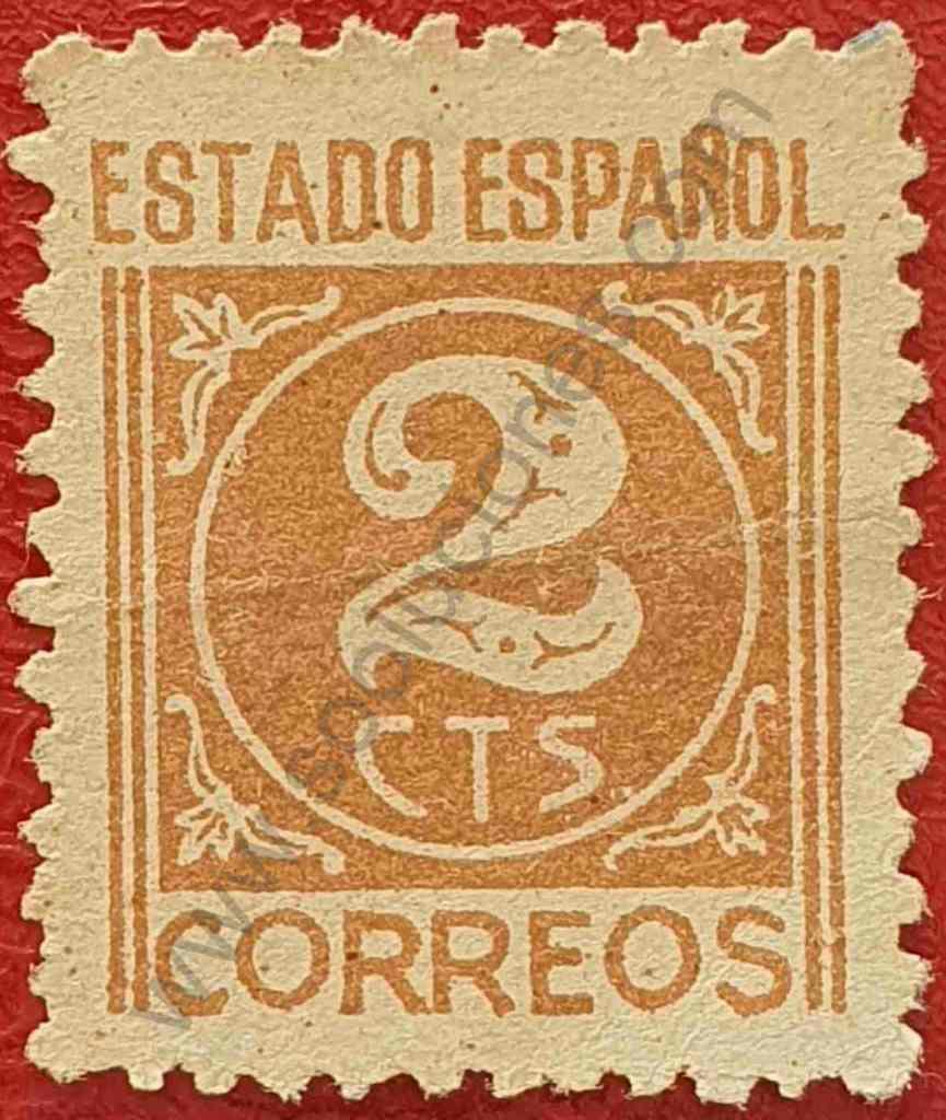 Sello Número 2 - España año 1938