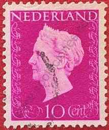 Reina Wilhelmina - Sello Países Bajos 1947