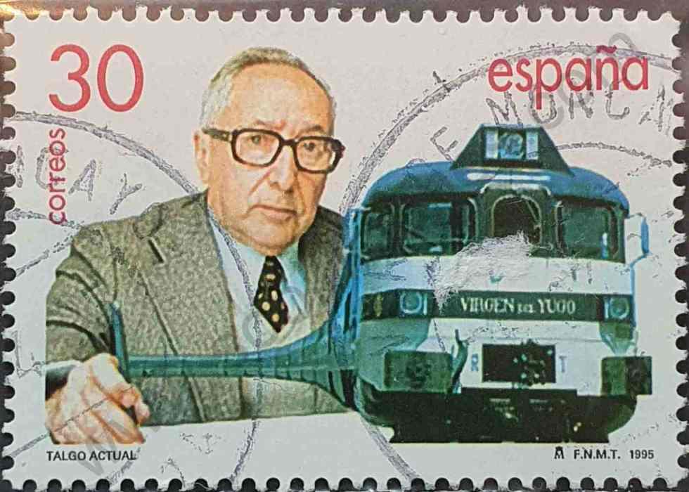 Sello Tren Talgo 30p - España 1995