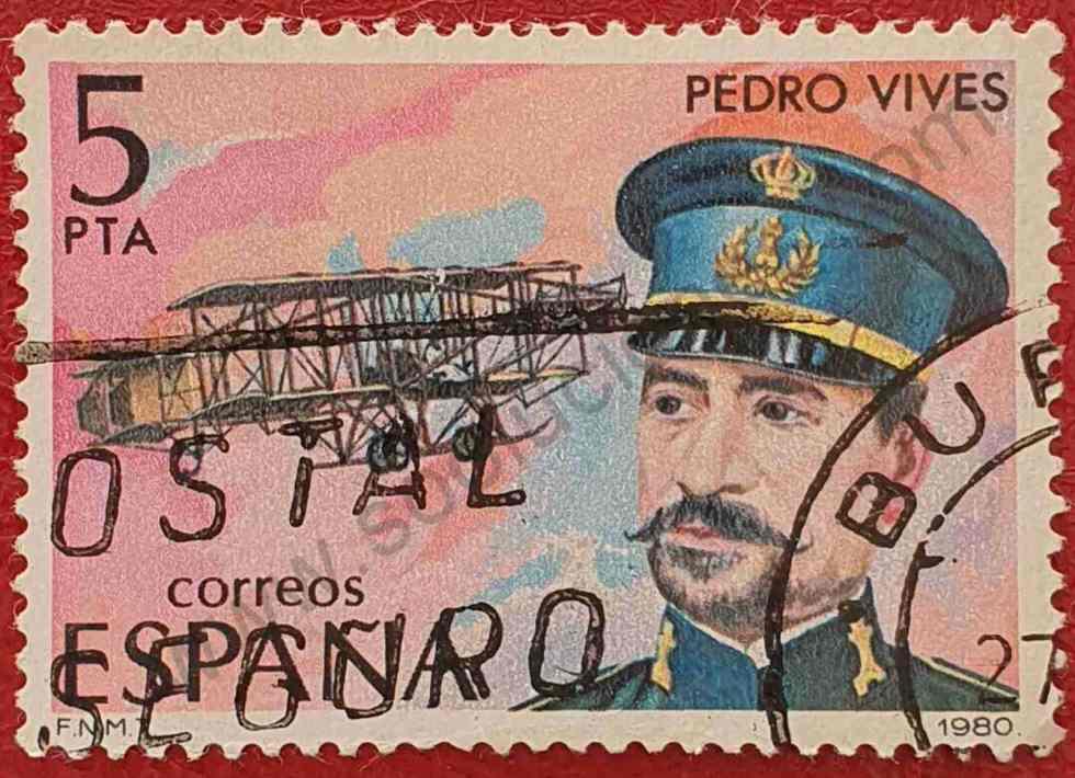 Sello Pedro Vives - España 1980