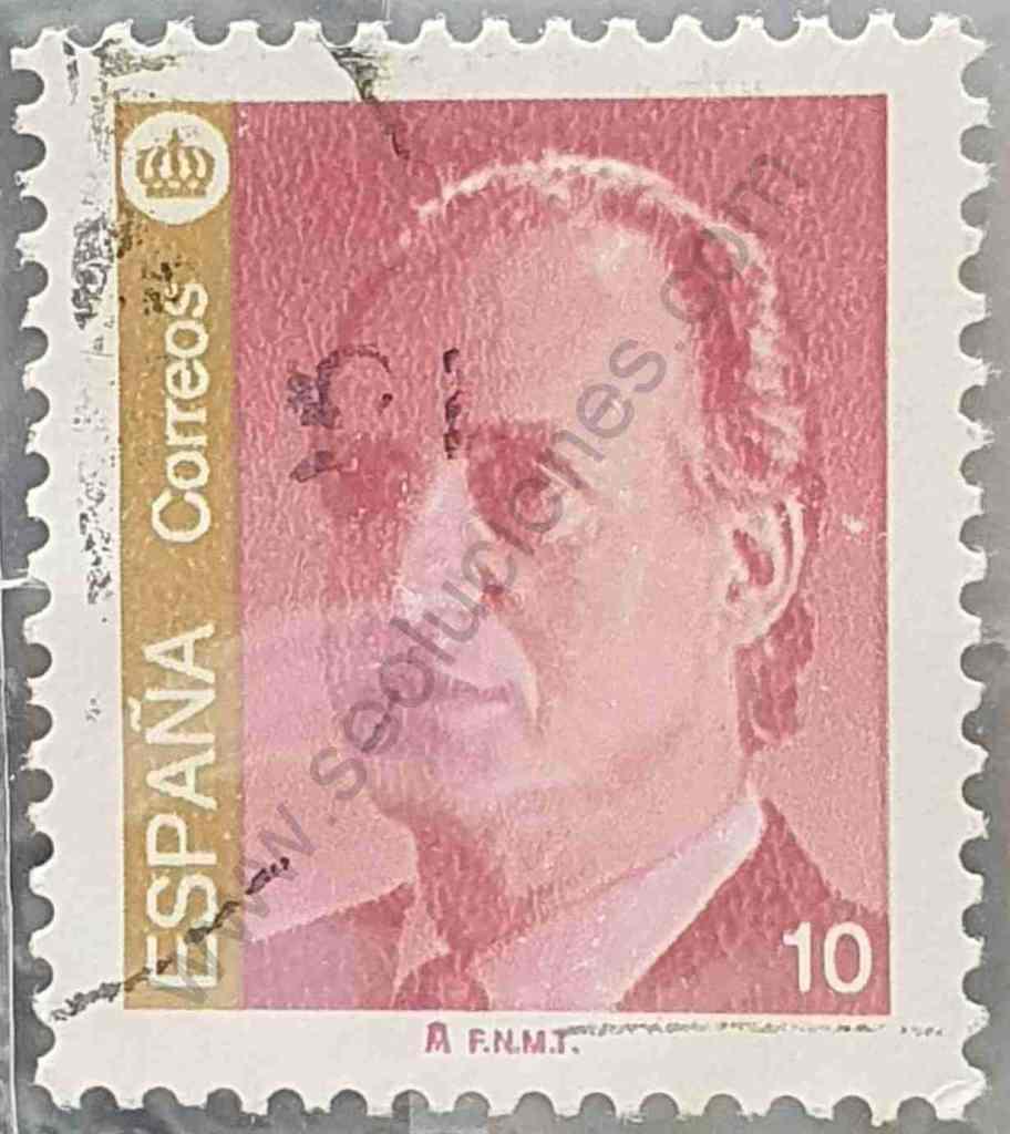 Rey Juan Carlos - 10pta - Sello España 1995