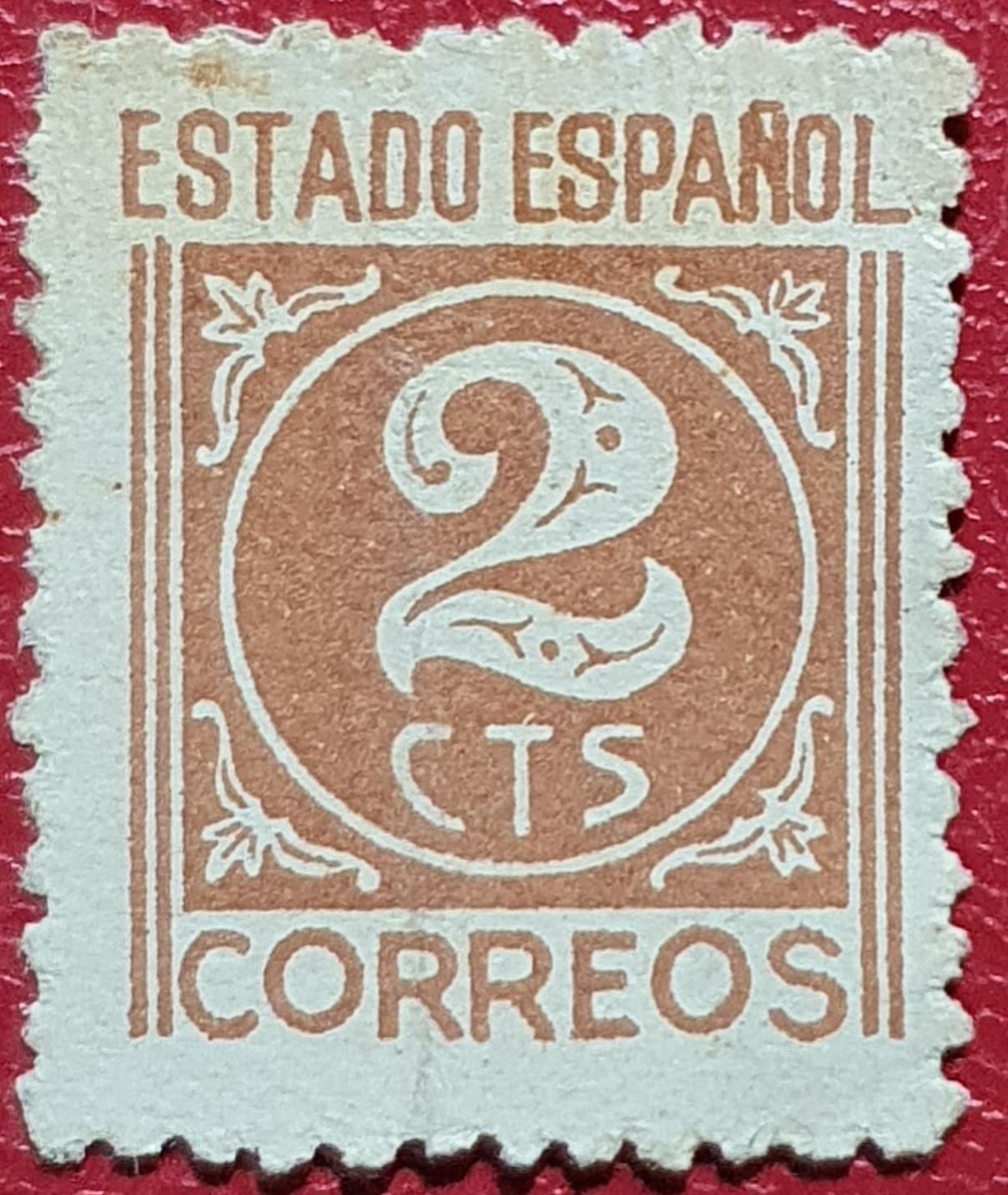 Número dos - Sello España 1938