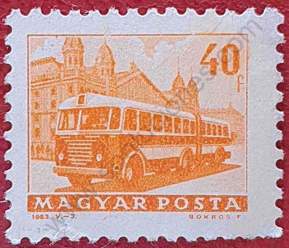 Autocar - Sello Hungría del año 1963