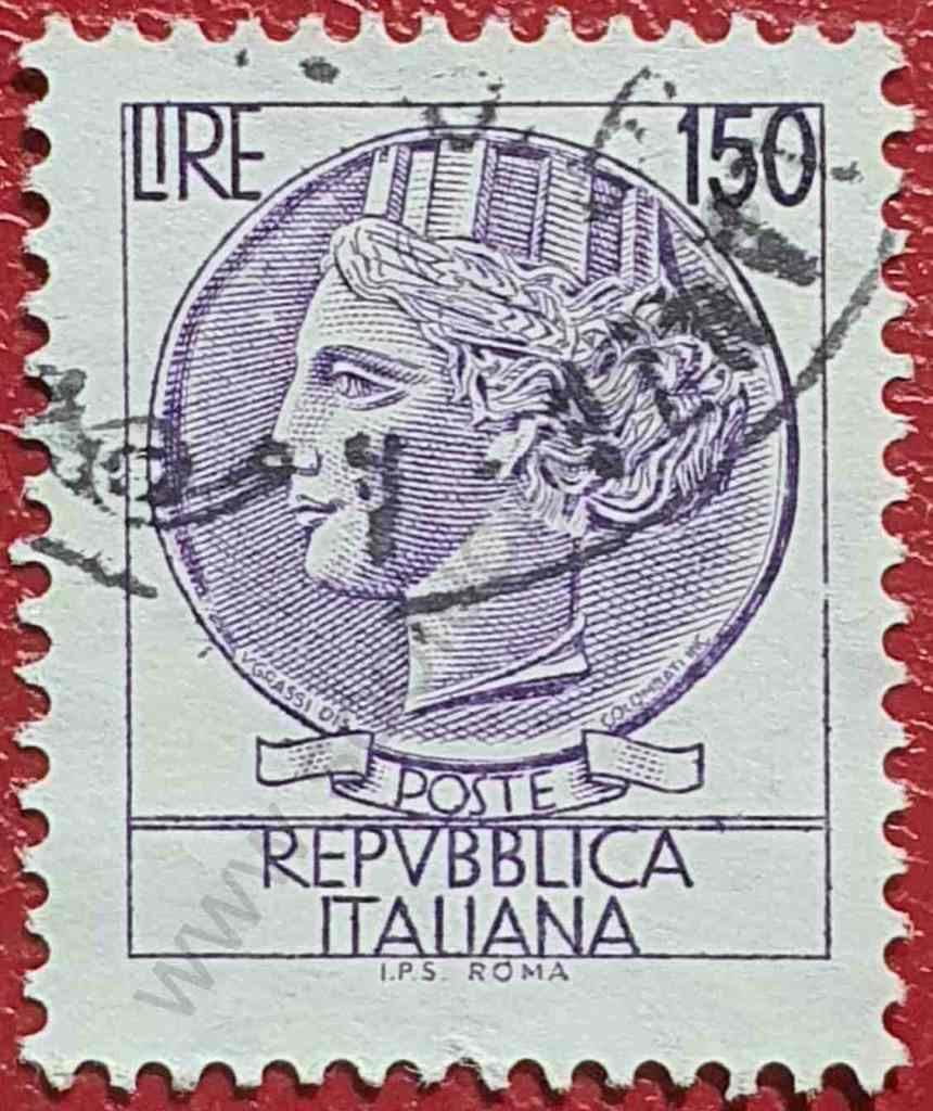 Moneda Siracusa 150 Liras - Sello Italia 1976