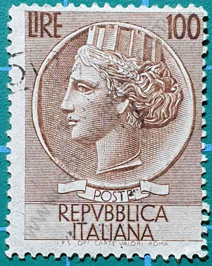 Moneda Siracusa 100 Liras - Sello Italia 1956