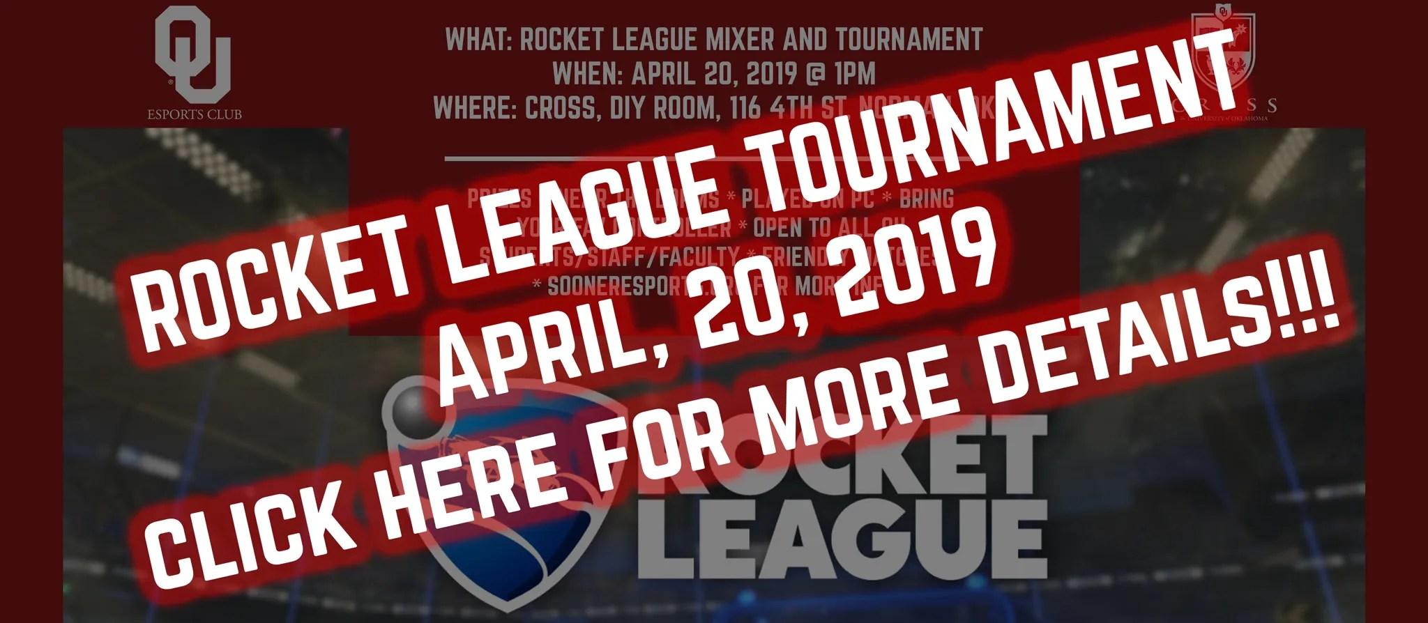 April 20th, 2019 Rocket League Friendly Tournament – Sooner Esports