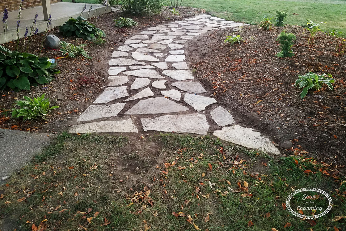image of flagstone pathway pictures how to lay a flagstone pathway