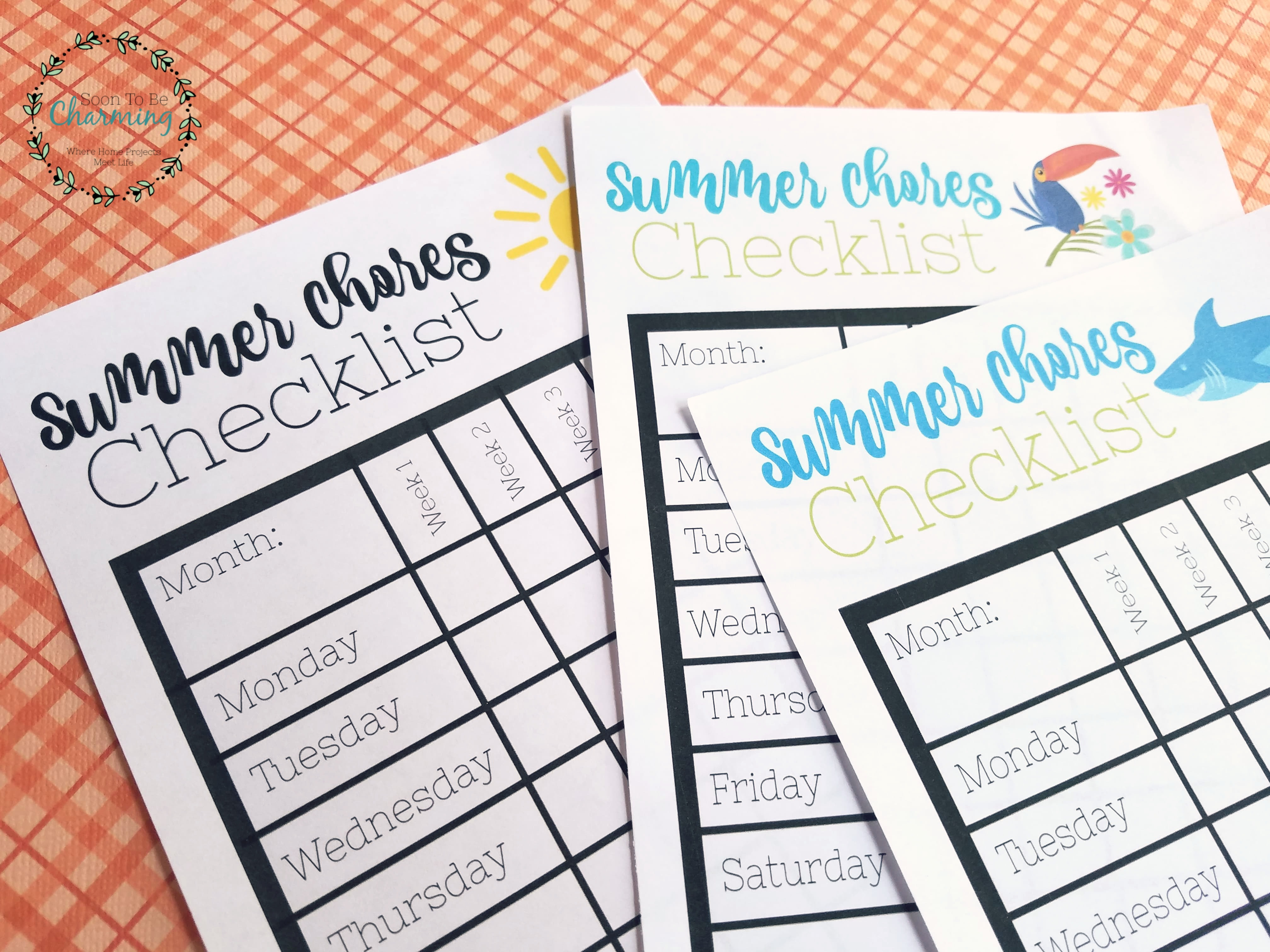 picture regarding Printable Coin Checklist titled Summertime Chores Listing with Absolutely free Printable - Quickly Toward Be
