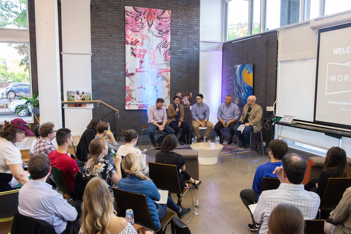 Event Photography: Localized Marketing Panel at Workbar