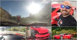 Homem destrói Ferrari 458 Italia de forma absurda ao tentar impressionar uma mulher!