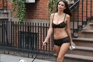 Emily Ratajkowski faz para o trânsito de Nova Iorque com nova campanha em lingerie
