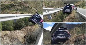 O piloto não ganhou para o susto... Este acidente podia ter acabado muito mal!