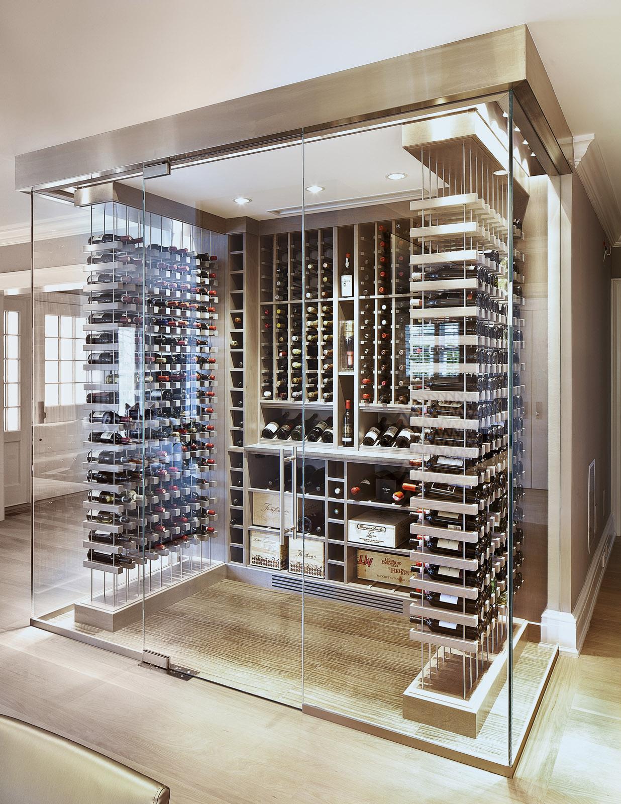 Glass Wine Cellar  Soper Babcock  Associates
