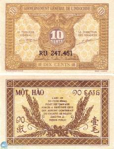 Indochina Money 10 Sen