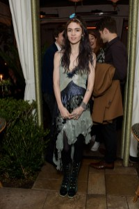 LOS ANGELES, CA - JANUARY 23: Grimes attends Rodarte x Superga Dinner Hosted By Gia Coppola at Chateau Marmont on January 23, 2015 in Los Angeles, California. (Photo by Stefanie Keenan/WireImage)
