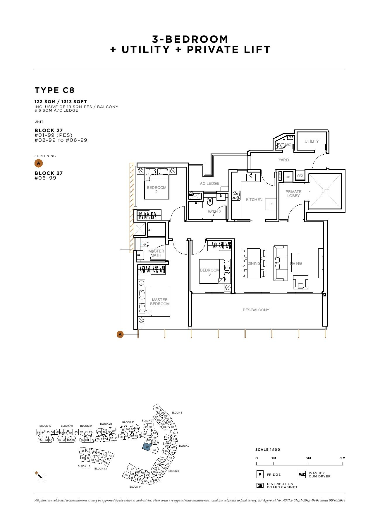 Sophia Hills 3 Bedroom + Utility Type C8 Floor Plans