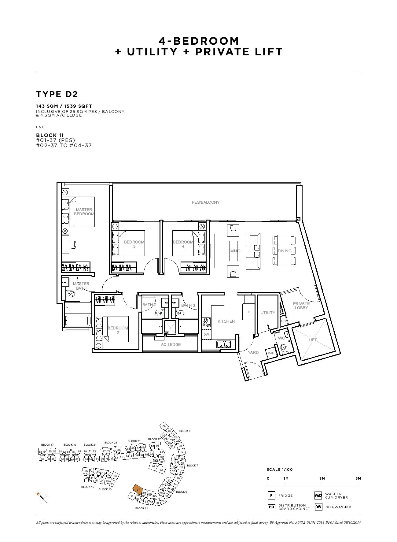 Sophia Hills 4 Bedroom + Utility Private Lift Type D2 Floor Plans
