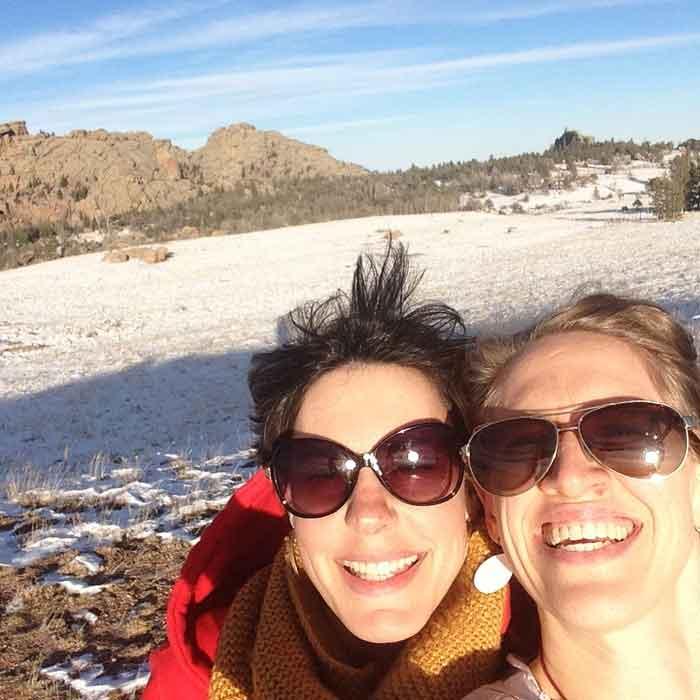 Kim & Sophia at Medicine Bow National Forest