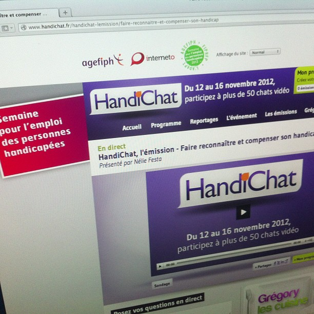 Photo du site internet Handichat