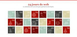 Visuel du site internet 24 jours de web