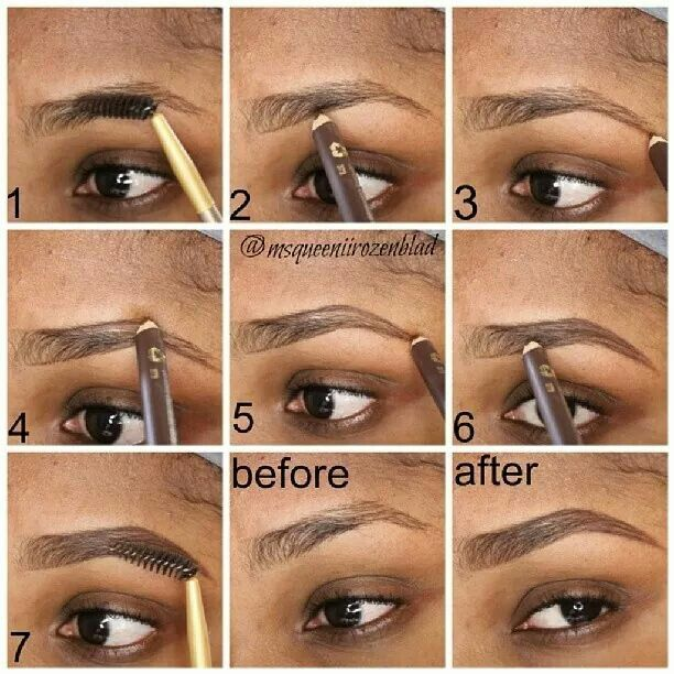 perfectly shaped eyebrows pencil