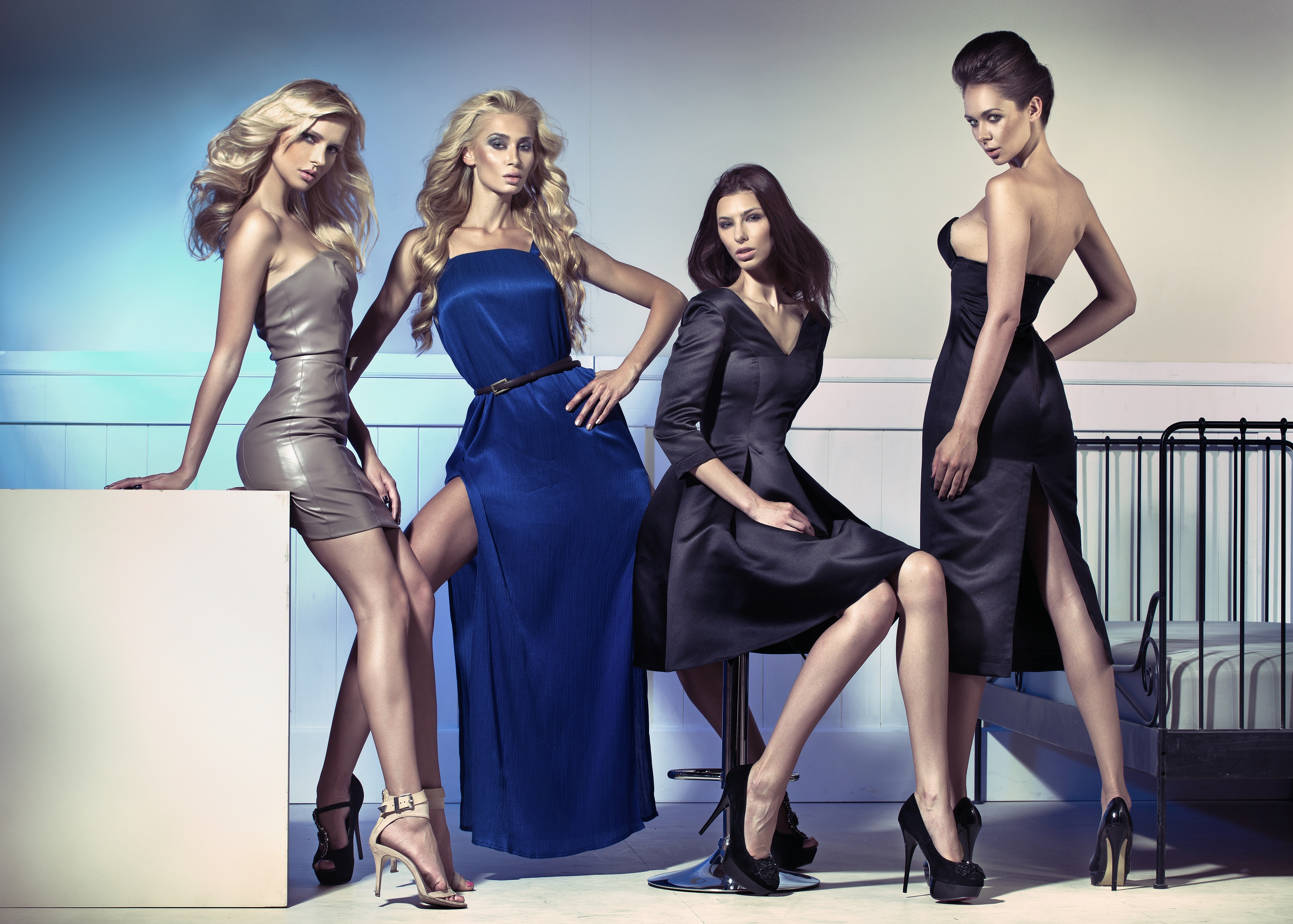 21791878 – fashion photo of four attractive female models