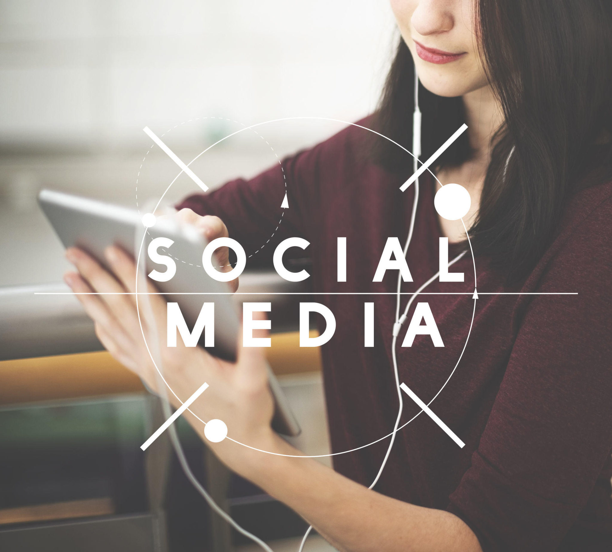 56320182 – social media networking communication connection concept