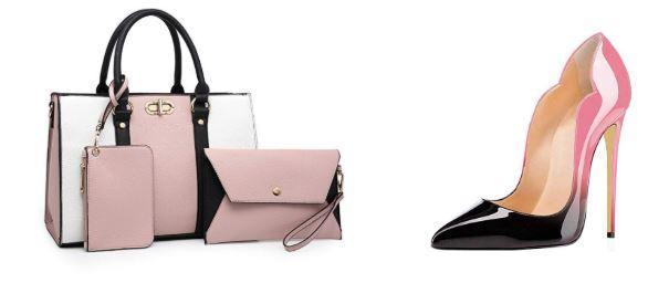 pink shoes set