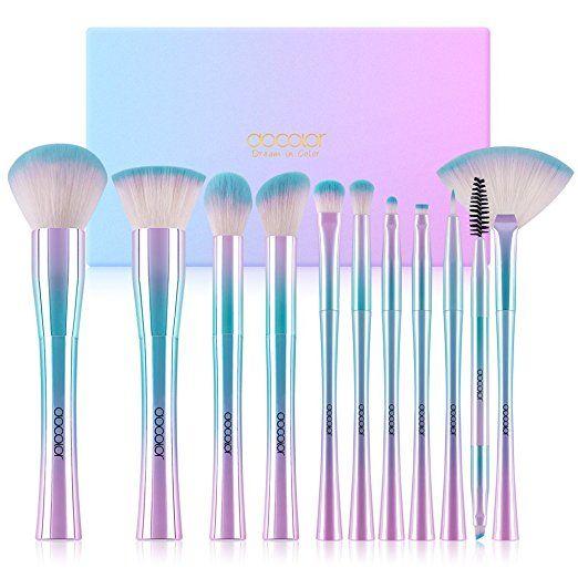 Docolor Makeup Brushes,11Pcs Fantasy Makeup Brush Set Foundation Powder Contour Eyeshadow Eyebrow Fan Cosmetic Brushes Kits
