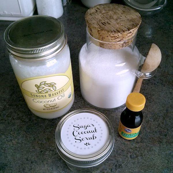 Body Scrub Recipe #1 Coconut Oil Sugar Scrub