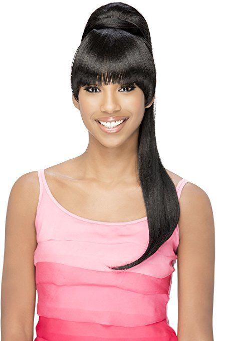 Vivica A Fox Hair Collection BP-Loui Bang N Pony Yaki Texture New Futura Fiber, Color 1b