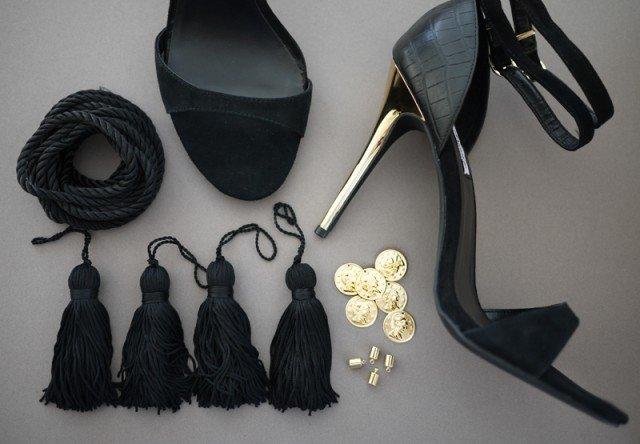 DIY clothes life hacks 15 DIY ideas #11 DIY Tassel Sandals 2
