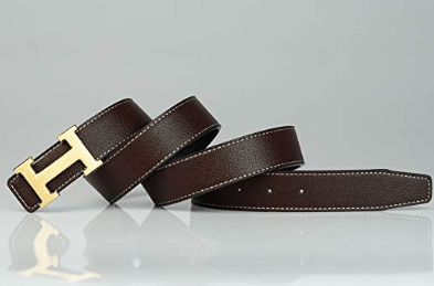brown H belt