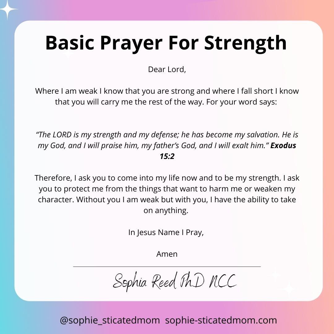 Basic Prayers For Strength basic