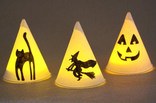 How To Make Cone Cup Night Lights