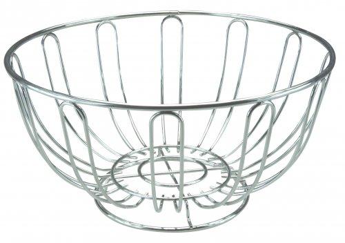 Apollo Housewares Chrome Fruit Bowl Round 24cm x 12cm