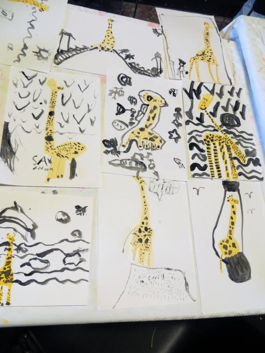Les voyages de la girafe  Sophie Daxhelet