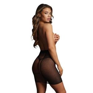 Le Desir Bliss High Waisted Black Mini Skirt UK 6 to 14
