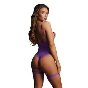 Le Desir Bliss Open Cup Strappy Teddy Purple UK 6 to 14