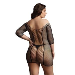 Le Desir Duo Net Sleeved Mini Dress UK 14 to 20