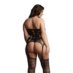 Le Desir Lace Suspender Bodystocking UK 14 to 20